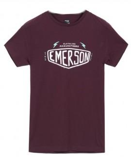 181.EM33.13-012 EMERSON MEN'S S/S T-SHIRT (WINE)