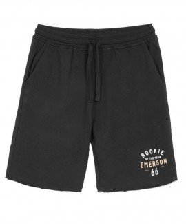 181.EM26.84-013 EMERSON   MEN'S SWEAT SHORT PANTS (BLACK)