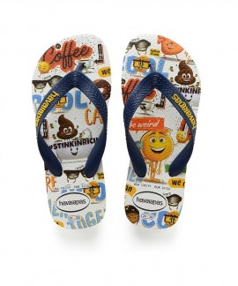 4140555-0001 HAVAIANAS KIDS EMOJI MOVIE(WHITE)
