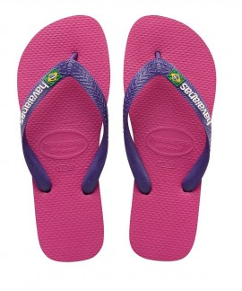 4110850.1-9491 HAVAIANAS  BRASIL LOGO(RASBERRY ROSE/NEW PURPLE)
