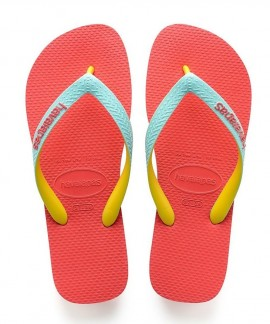4115549-6024 HAVAIANAS TOP MIX(CORAL NEW)
