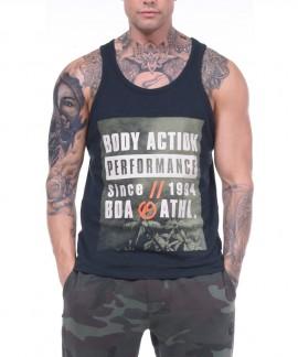 043810-ΒLΑCΚ BODY ACTION MEN TANK TOP