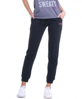 021834-BLACK BODY ACTION WOMENS REGULAR FIT PANT