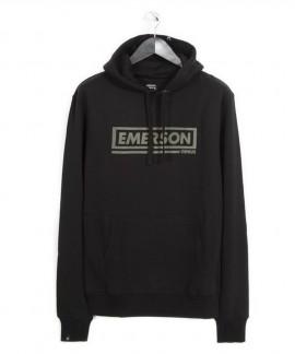 182.EM20.42-001 EMERSON GRAPHIC PRINT HOODIE (BLACK)