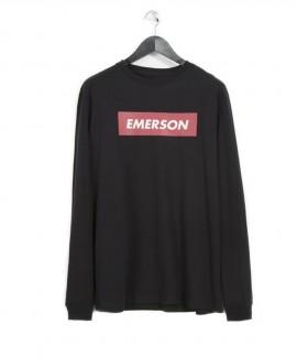 182.EM31.04-001 EMERSON MEN'S L/S T-SHIRTS (BLACK)