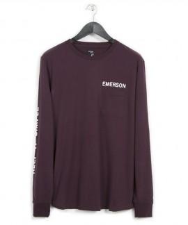 182.EM31.11-004 EMERSON MEN'S L/S T-SHIRTS (WINE)