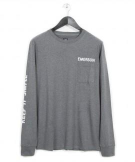 182.EM31.11-003 EMERSON MEN'S L/S T-SHIRTS (GREY)