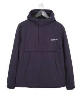 182.EM10.106-007 EMERSON MEN'S PULL-OVER JACKET WITH HOOD (PURPLE)