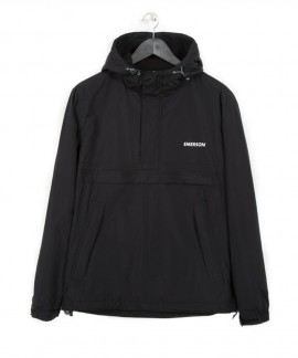 182.EM10.106-006 EMERSON MEN'S PULL-OVER JACKET WITH HOOD (BLACK)