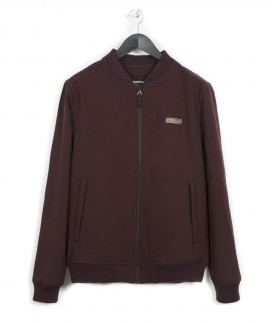 182.EM11.08-031 EMERSON MEN'S SOFT SHELL RIBBED JACKET (WINE)
