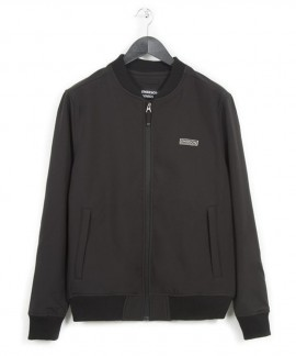 182.EM11.08-030 EMERSON MEN'S SOFT SHELL RIBBED JACKET (BLACK)