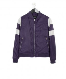 182.EW10.79-075 EMERSON WOMEN'S RIBBED JACKET (PURPLE)