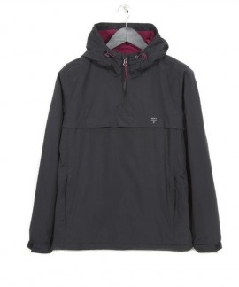 182.EW10.90-006 EMERSON WOMEN'S PULL-OVER JKT WITH HOOD (BLACK)