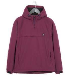 182.EW10.90-071 EMERSON WOMEN'S PULL-OVER JKT WITH HOOD (RASPBERRY)
