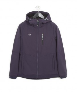 182.EW11.102-078 EMERSON WOMEN'S SOFT SHELL JKT WITH HOOD (PURPLE)