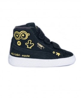 366636-01 PUMA X MINIONS SUEDE MID FUR V BABY'S BOOTS