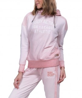 061834-01 BODY ACTION WOMEN SLOUCH HOODIE (D.ΡΙΝΚ)