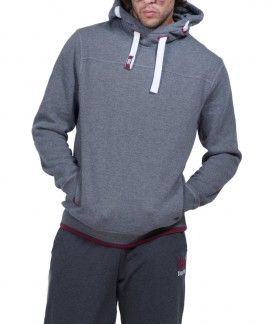 063824-01 BODY ACTION MEN PULLOVER HOODIE (GRΑΝΙΤΕ)