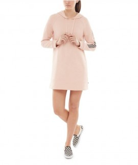 VN0A3T7ROBJ1 VANS FUNDAY HOODIE DRESS (ROSE CLOUD)