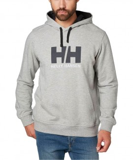 33977-949 HELLY HANSEN LOGO HOODIE (GREY)