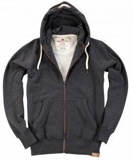 073727  BODY ACTION MEN HOODED SWEAT JACKET
