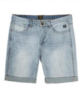 191.EM45.97-027 EMERSON MEN'S STRETCH DENIM SHORT PANTS (LIGHT BLUE)