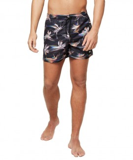 9A3207M-9900 O'NEILL SUMMER-FLORAL SWIM SHORTS (BLACK)