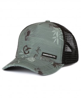 191.EU01.42-037 EMERSON PRINTED TRUCKER CAP (GREEN)