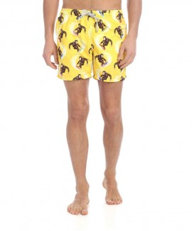 S19GUSTAVIA MC2 MONKEY SURF PRINT SWIM SHORTS
