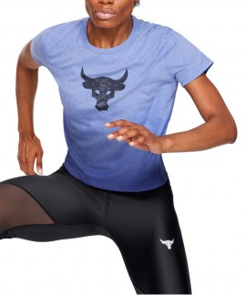 1346829-591 UNDER ARMOUR W PROJECT ROCK BULL GRAPHIC T-SHIRT