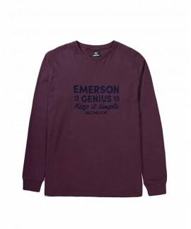 192.EM31.21-024 EMERSON MEN'S L/S T-SHIRT (DUSTY WINE)