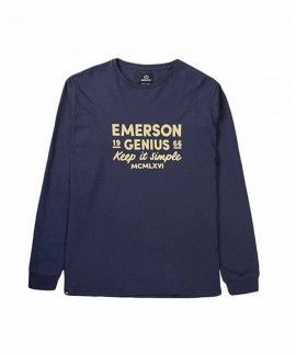 192.EM31.21-021 EMERSON MEN'S L/S T-SHIRT (NAVY BLUE)
