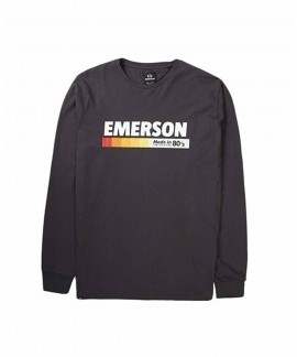 192.EM31.23-015 EMERSON MEN'S L/S T-SHIRT (EBONY)