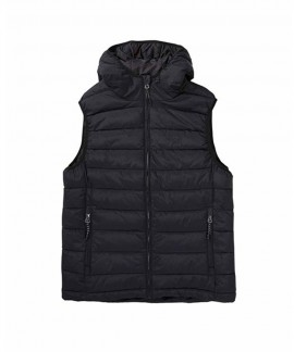 192.EM10.120-002 EMERSON MEN'S P.P.DOWN VEST JACKET WITH HOOD (RPS BLACK)