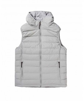 192.EM10.120-004 EMERSON MEN'S P.P.DOWN VEST JACKET WITH HOOD (RPS ICE)