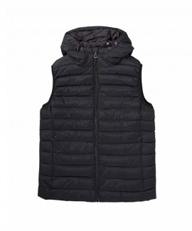192.EW10.114-002 EMERSON WOMEN'S P.P. DOWN VEST JKT WITH HOOD (RPS BLACK)