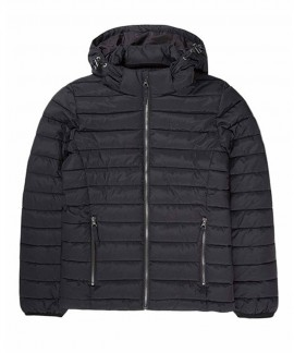 192.EW10.132-002 EMERSON WOMEN'S P.P.DOWN JACKET WITH HOOD (RPS BLACK)