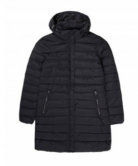 192.EW10.82-002 EMERSON WOMEN'S LONG P.P.DOWN JKT,DET/BLE HOOD (RPS BLACK)
