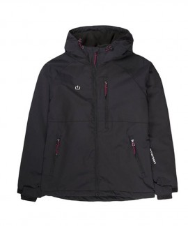 192.EW10.90-001 EMERSON WOMEN'S JACKET WITH HOOD (DOBBY BLACK)