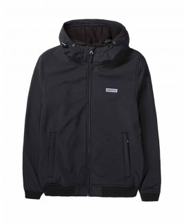 192.EW11.88-011 EMERSON WOMEN'S SOFT SHELL RIB JKT WITH HOOD (BD BLACK)