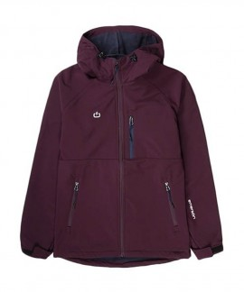 192.EW11.90-031 EMERSON WOMEN'S SOFT SHELL JACKET WITH HOOD (BD WINE)