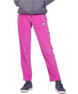 021959-D.FUCSHIA BODY ACTION WOMEN BASIC VELOUR PANTS