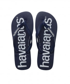 4144264-0555 HAVAIANAS TOP LOGOMANIA (NAVY BLUE)