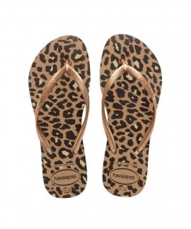 4144942-3581 HAVAIANAS SLIM FLATFORM ANIMALS (ROSE GOLD)