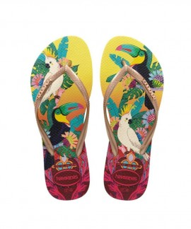 4122111-7598 HAVAIANAS SLIM TROPICAL (LEMON TROPICAL)