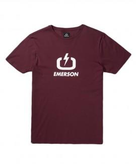 201.EM33.01 (RED) EMERSON LOGO TEE