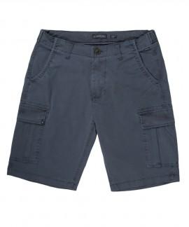 201.EM47.95-022 MEN'S STRETCH CARGO SHORT PANTS (BLUE)