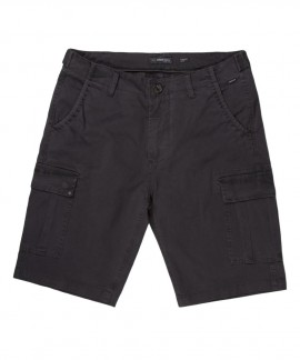 201.EM47.95-025 MEN'S STRETCH CARGO SHORT PANTS (DARK GREY)