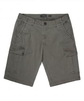 201.EM47.95-026 MEN'S STRETCH CARGO SHORT PANTS (PINE OLIVE)