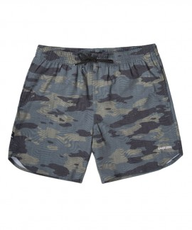 201.EM505.15-030 MEN'S PRINTED VOLLEY SHORTS (PINE)